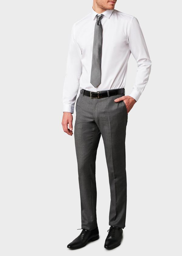 Pantalon de costume Regular en laine Vitale Barberis Canonico grise Prince de Galles - Father and Sons 9190