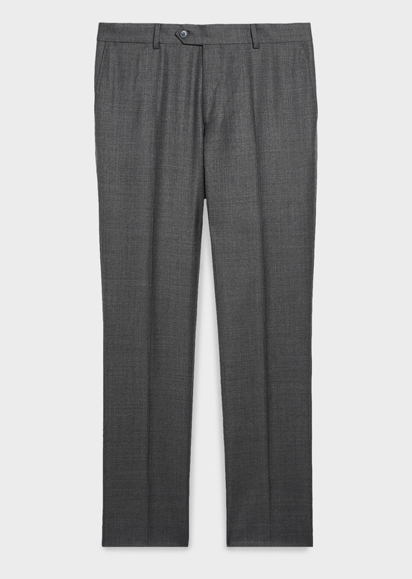 Pantalon de costume Regular en laine Vitale Barberis Canonico grise Prince de Galles - Father and Sons 9188