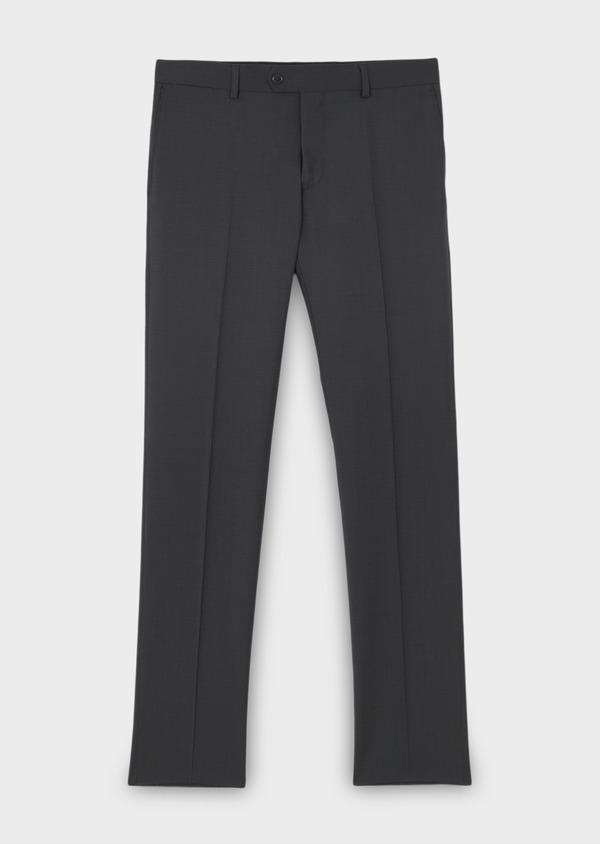 Pantalon de costume Regular en laine Vitale Barberis Canonico unie gris anthracite - Father and Sons 8809