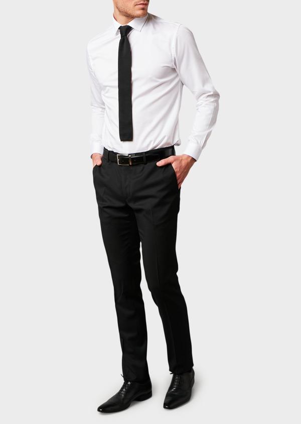 Pantalon de costume Regular en laine Vitale Barberis Canonico unie noire - Father and Sons 8805