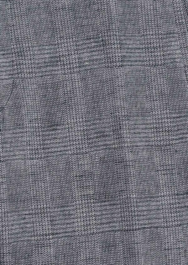 Pantalon coordonnable skinny en coton mélangé gris à motifs géométriques - Father and Sons 6647