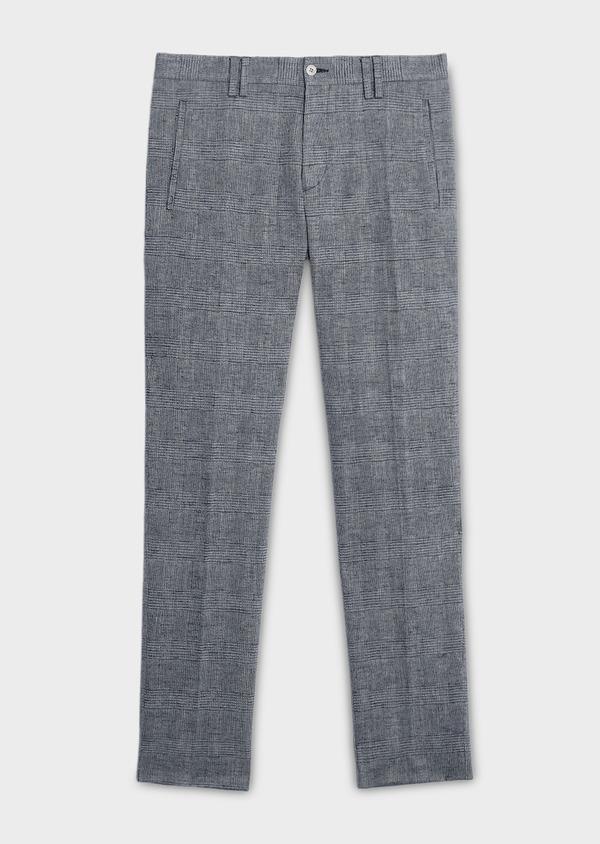 Pantalon coordonnable skinny en coton mélangé gris à motifs géométriques - Father and Sons 6646