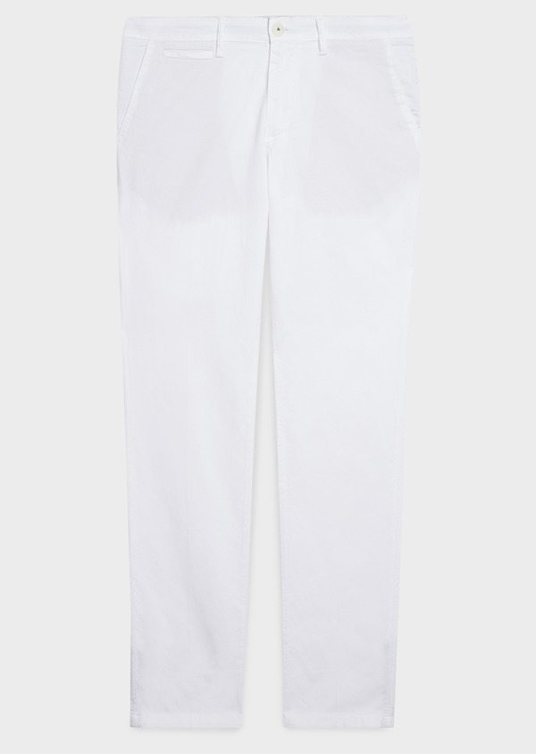 Chino slack skinny en coton stretch uni blanc - Father and Sons 6652