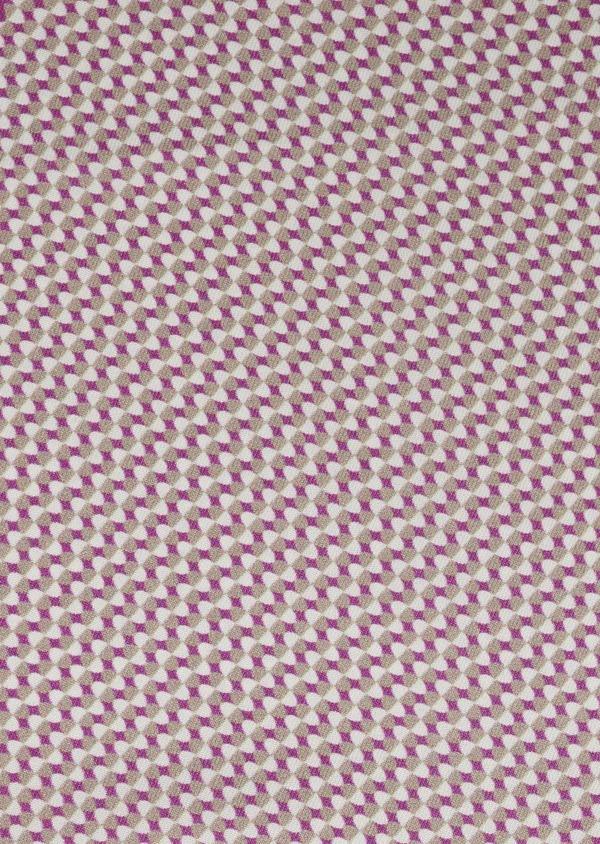 Pochette en soie à motifs géométriques rose foncé - Father and Sons 6695