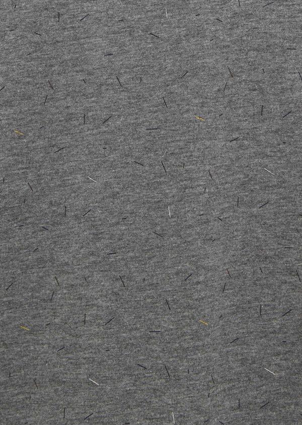 Polo manches courtes Slim en coton gris clair à motifs - Father and Sons 7654
