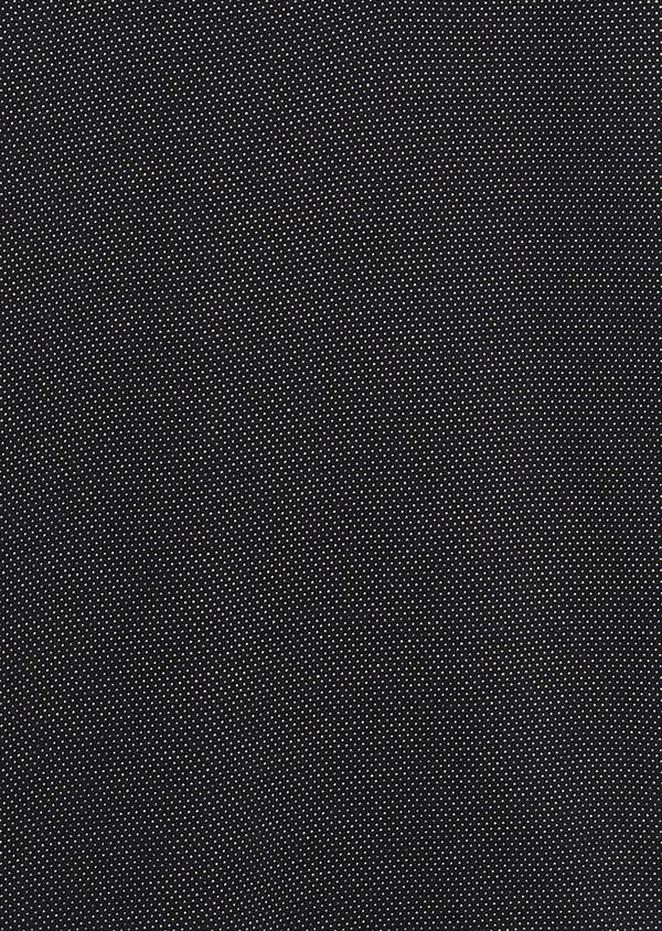 Polo manches courtes Slim en coton bleu marine à motifs jaunes - Father and Sons 7518