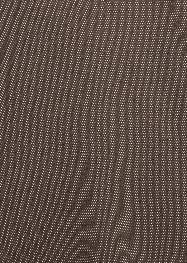Polo manches courtes Slim en coton marron à motifs rose pale - Father and Sons 7526