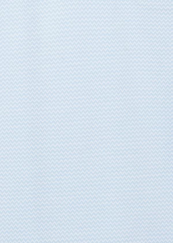 Polo manches courtes Slim en coton bleu clair à motifs zigzag - Father and Sons 8164