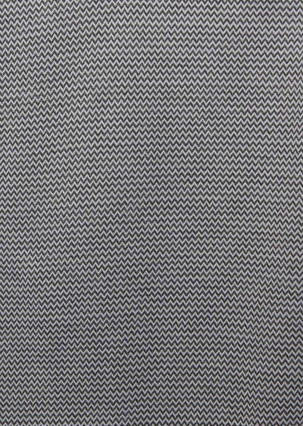 Polo manches courtes Slim en coton gris à motifs zigzag - Father and Sons 7742