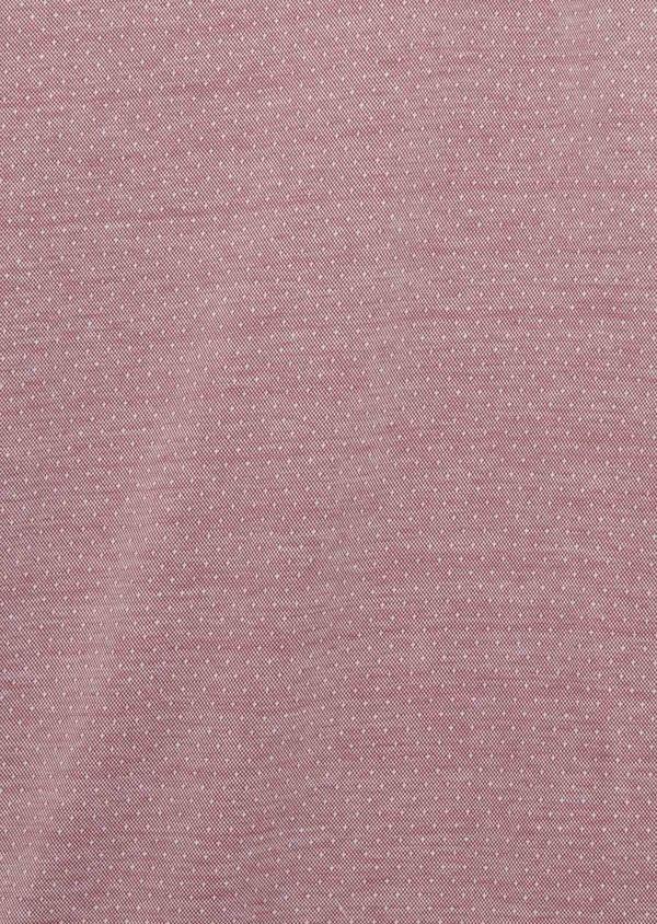 Polo manches courtes Slim en coton rose à motifs - Father and Sons 7662