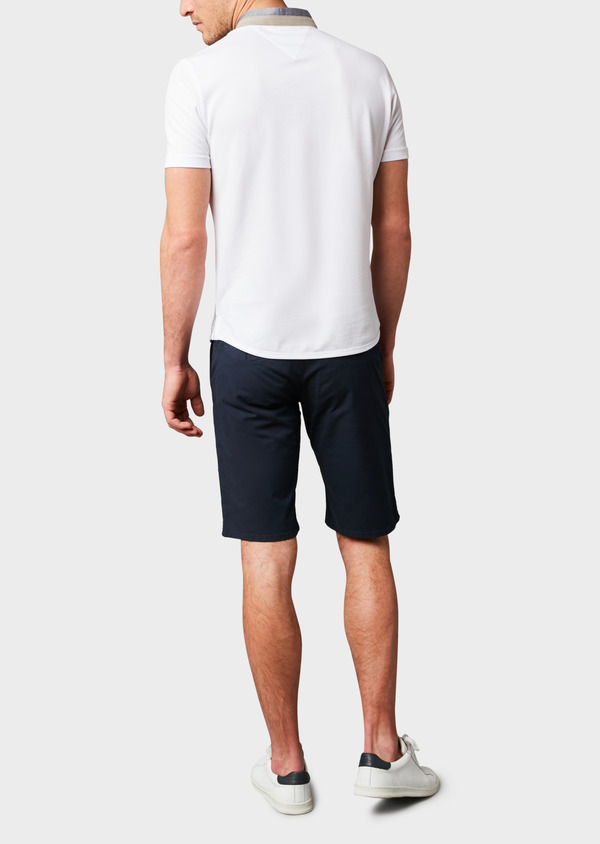 Polo manches courtes Slim en coton uni blanc - Father and Sons 7672