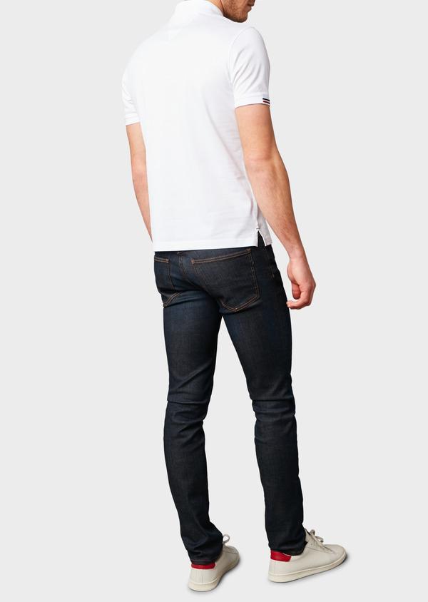Polo manches courtes Slim en coton mercerisé blanc - Father and Sons 8174