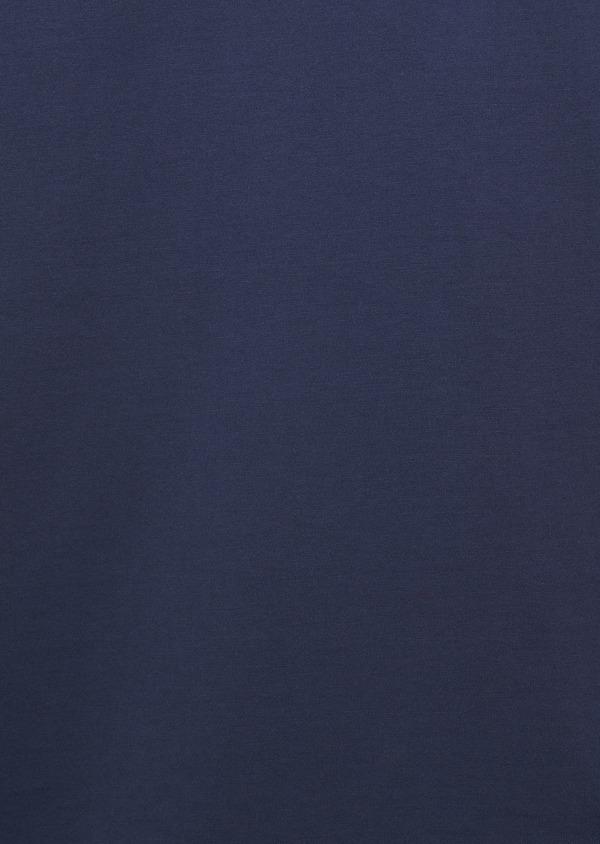 Polo manches courtes Slim en coton uni bleu indigo - Father and Sons 7542