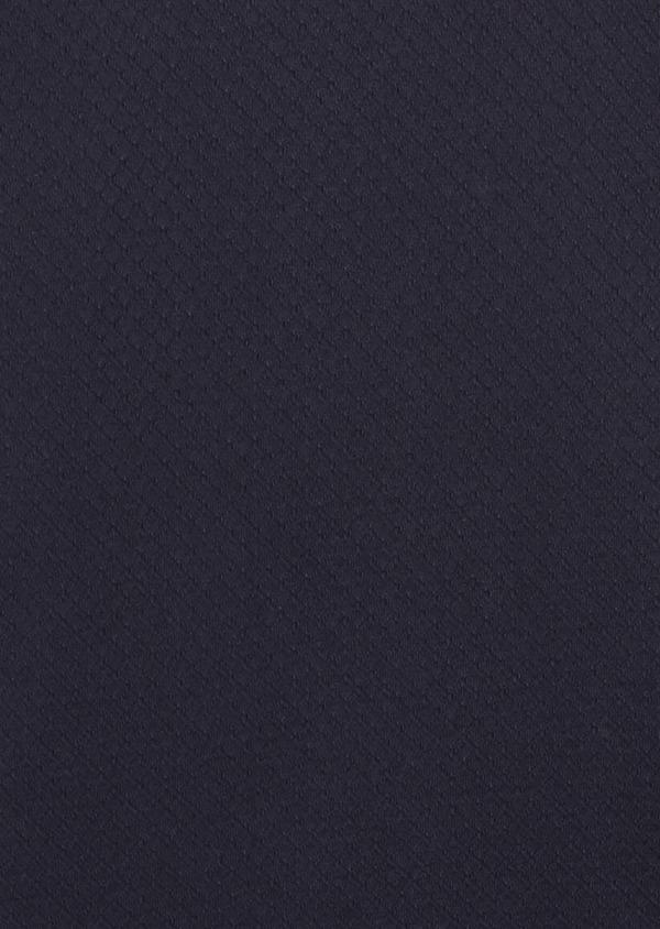 Polo manches courtes Slim en coton texturé bleu marine - Father and Sons 7630