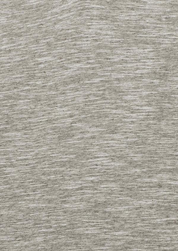 Polo manches courtes Slim en coton gris chiné - Father and Sons 7694