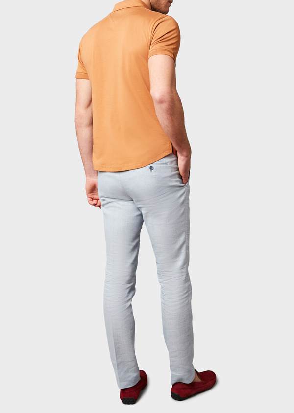 Polo manches courtes Slim en coton uni camel - Father and Sons 7616
