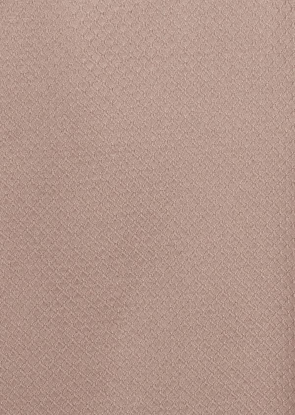 Polo manches courtes Slim en coton texturé marron clair - Father and Sons 7638