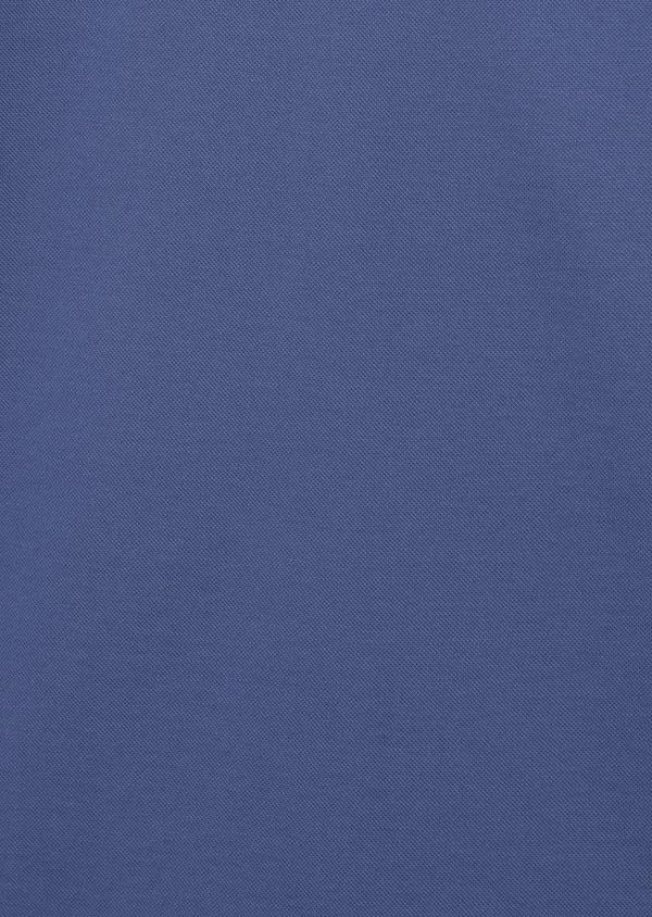 Polo manches courtes Slim en coton uni bleu - Father and Sons 7566