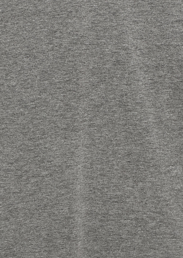 Polo manches longues Slim en coton uni gris - Father and Sons 6967