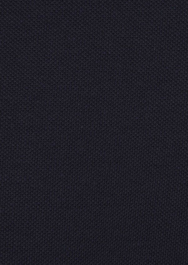 Polo manches longues Slim en coton uni bleu marine - Father and Sons 6976