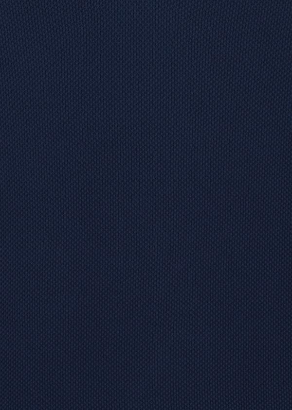 Pull en coton col V texturé bleu indigo - Father and Sons 8200