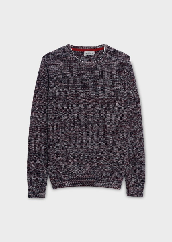 Pull en coton col rond mouliné multicolore - Father and Sons 7014