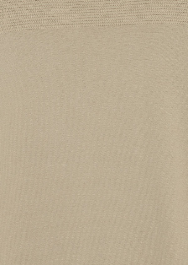 Pull en coton col rond beige - Father and Sons 7045