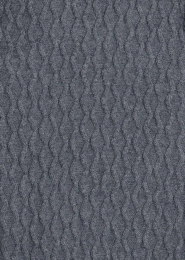 Gilet en coton texturé gris - Father and Sons 7039