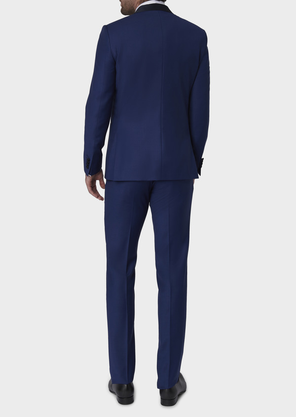 Smoking Slim en laine unie bleue - Father and Sons 7071