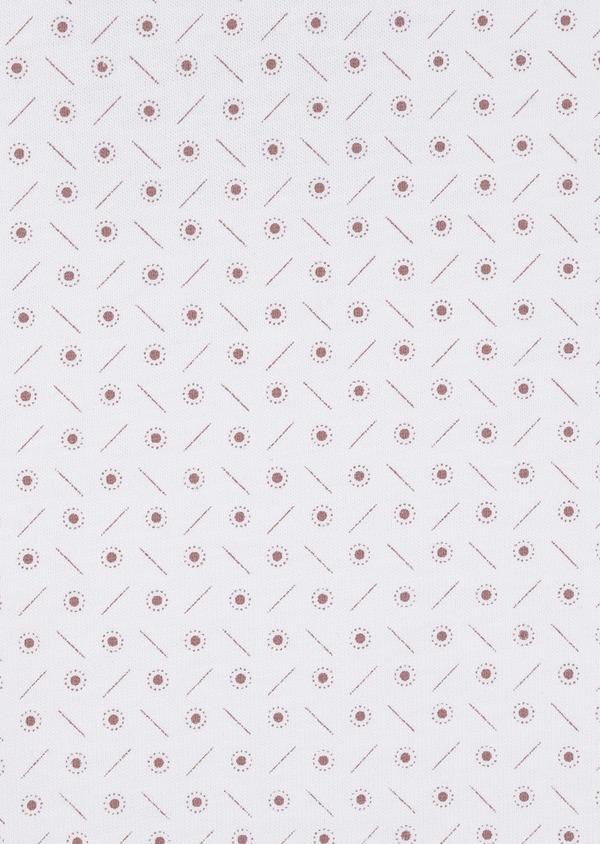 Tee-shirt manches courtes en coton blanc à motifs géométriques - Father and Sons 7123
