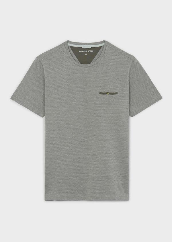 Tee-shirt manches courtes en coton vert à motifs - Father and Sons 7098