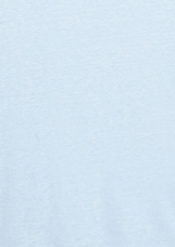 Tee-shirt manches courtes en lin uni bleu ciel - Father and Sons 7143