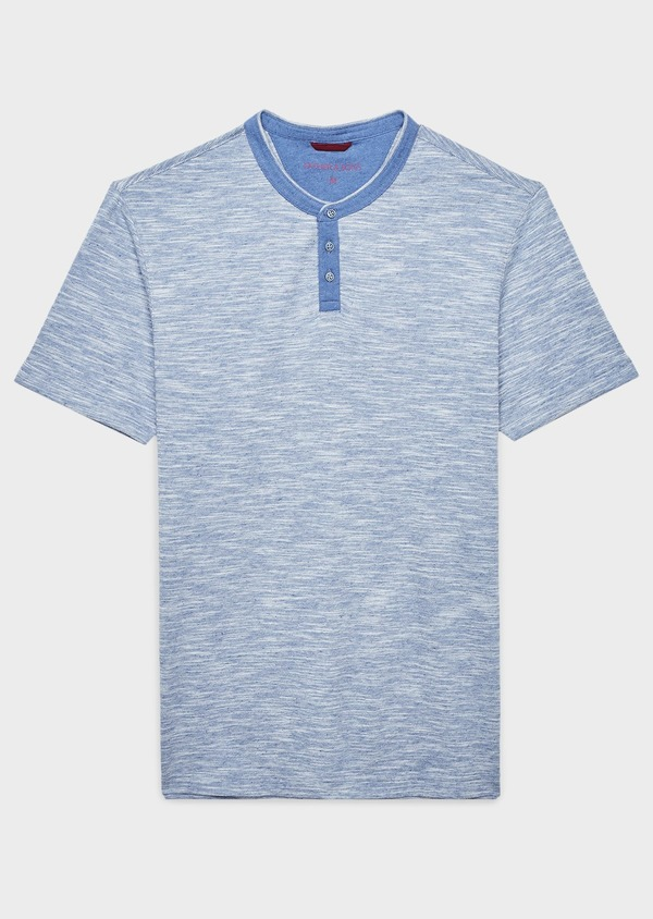 Tee-shirt manches courtes en coton texturé gris - Father and Sons 7110