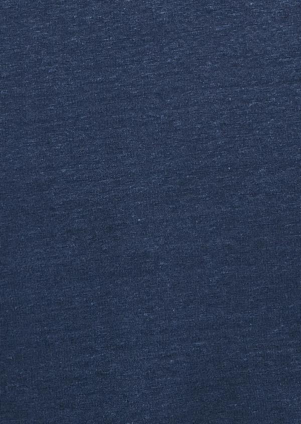 Tee-shirt manches courtes en lin uni bleu indigo - Father and Sons 7151
