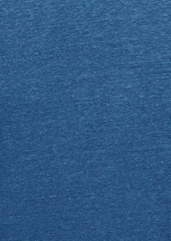 Tee-shirt manches courtes en lin uni bleu jean - Father and Sons 7155