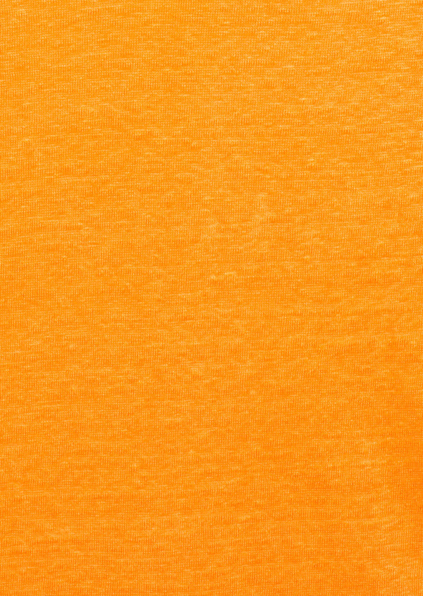 Tee-shirt manches courtes en lin uni orange - Father and Sons 8216