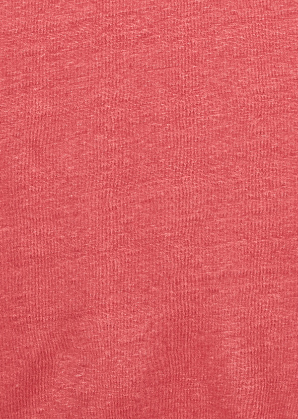 Tee-shirt manches courtes en lin uni rose clair - Father and Sons 7147