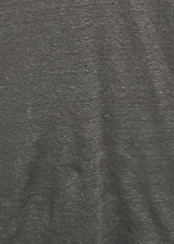Tee-shirt manches courtes en lin uni vert kaki - Father and Sons 8220