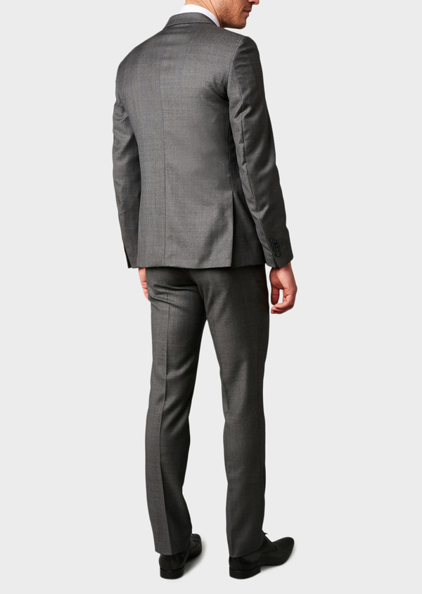 Veste de costume Regular en laine Vitale Barberis Canonico gris Prince de Galles - Father and Sons 8691