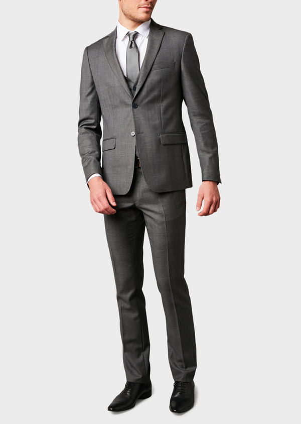 Veste de costume Regular en laine Vitale Barberis Canonico gris Prince de Galles - Father and Sons 8690