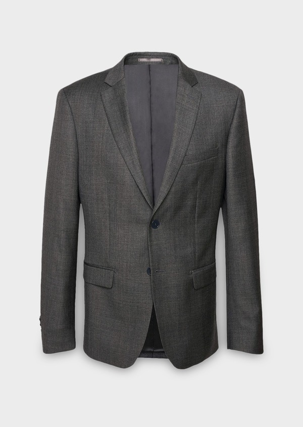 Veste de costume Regular en laine Vitale Barberis Canonico gris Prince de Galles - Father and Sons 8688