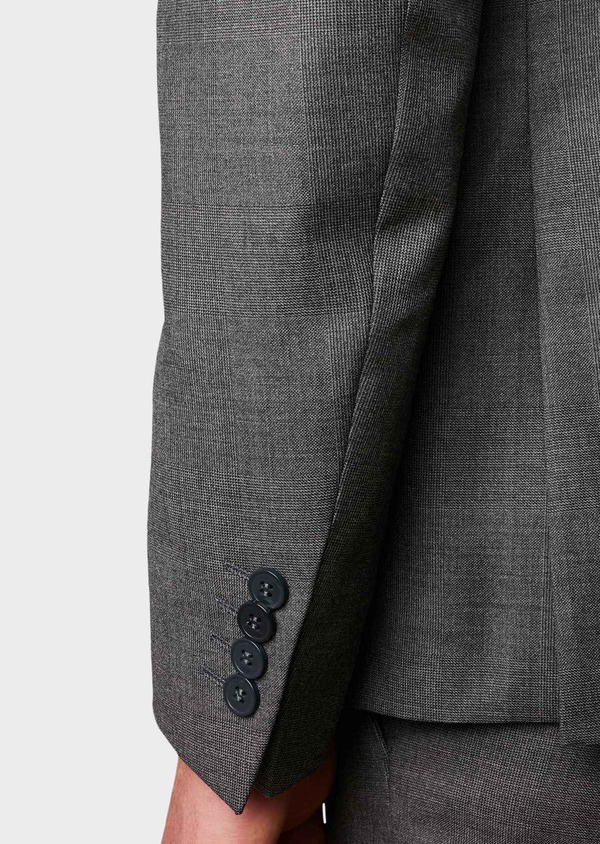 Veste de costume Regular en laine Vitale Barberis Canonico gris Prince de Galles - Father and Sons 8693