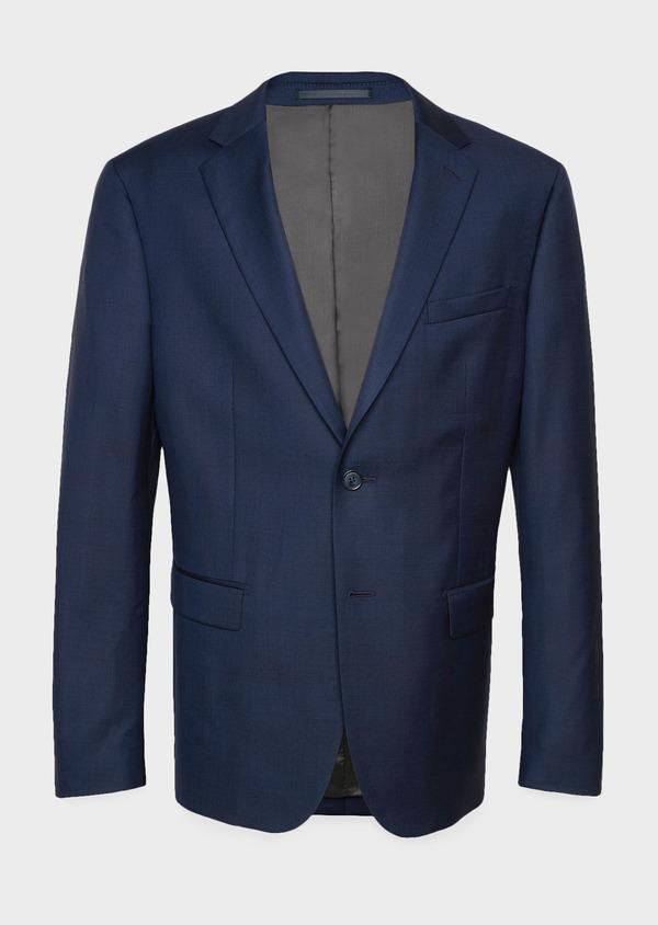 Veste de costume Regular en laine Vitale Barberis Canonico bleu marine Prince de Galles - Father and Sons 9073