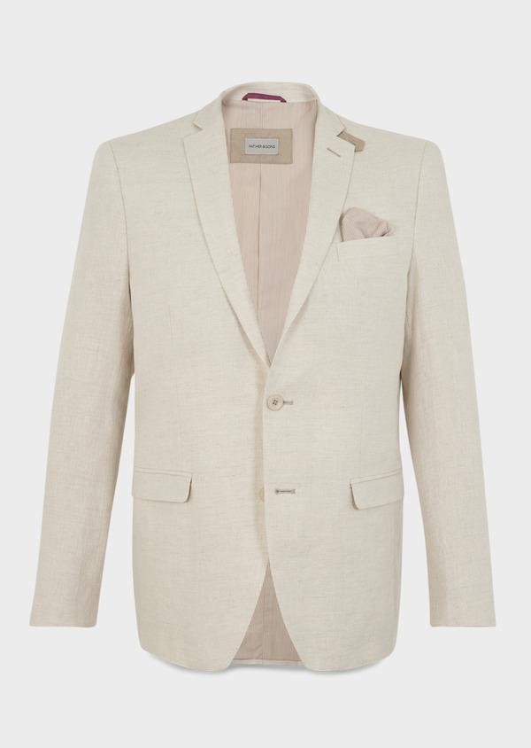 Veste coordonnable Regular en lin beige - Father and Sons 8227