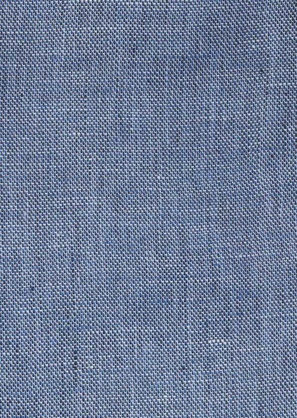 Veste coordonnable Regular en lin bleu - Father and Sons 7159