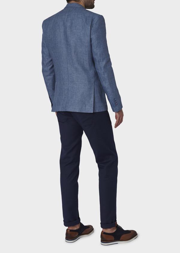 Veste coordonnable Regular en lin bleu - Father and Sons 7161