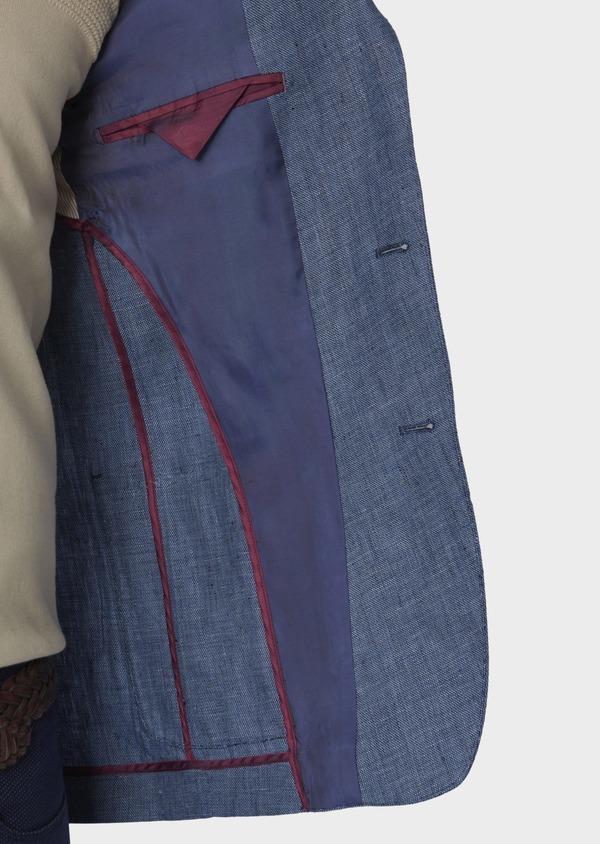 Veste coordonnable Regular en lin bleu - Father and Sons 7164