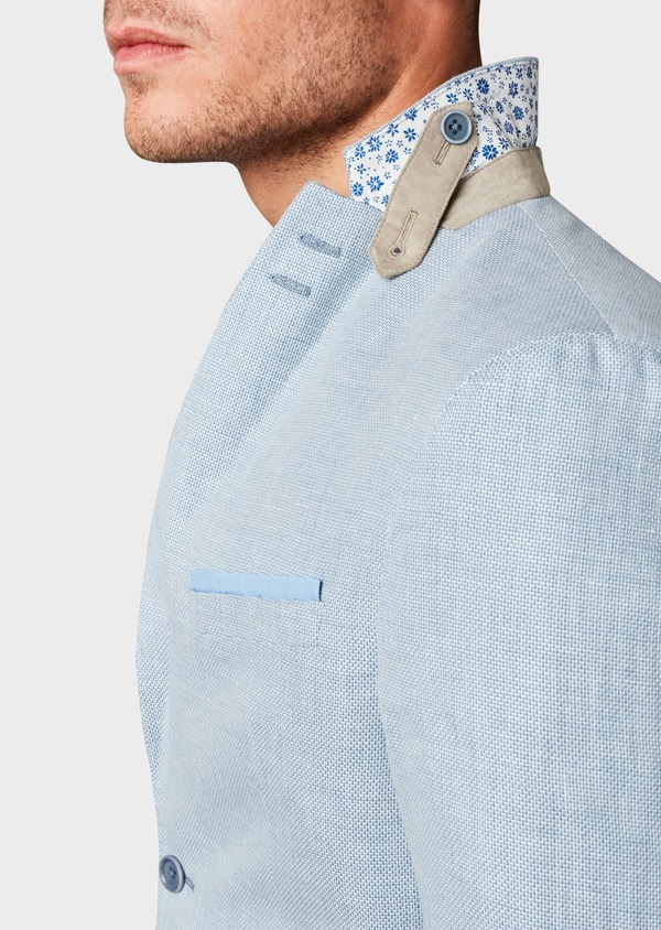 Veste coordonnable Slim en lin bleu ciel - Father and Sons 7182