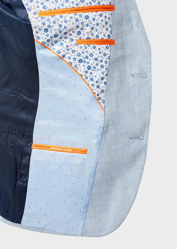 Veste coordonnable Slim en lin bleu ciel - Father and Sons 7184
