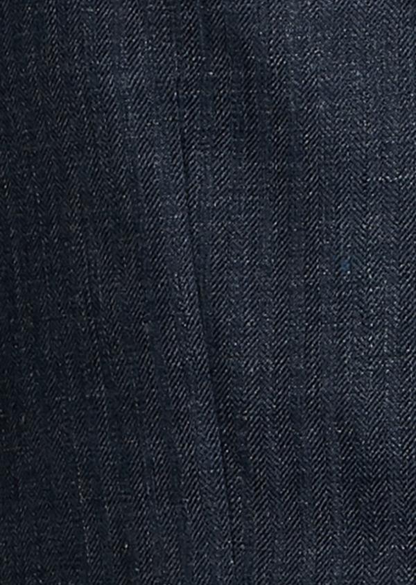 Veste coordonnable Slim en lin bleu marine - Father and Sons 7189